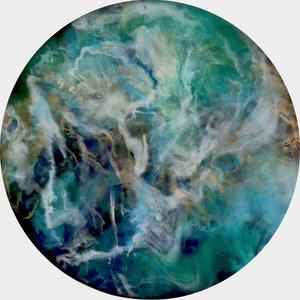 (CreativeWork) 'Opal River' by Kim Switzer. resin. Shop online at Bluethumb.