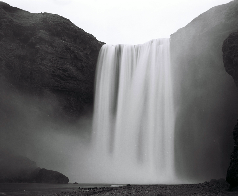 (CreativeWork) Skógafoss  by Marlaina Read. photograph. Shop online at Bluethumb.