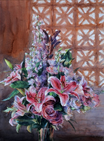(CreativeWork) LILY by Richard(Tiejun) Chao. watercolour. Shop online at Bluethumb.