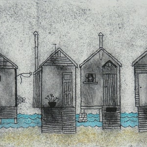 (CreativeWork) Beach Boxes 3 Ed. 1 of 1 by Wendy Galloway. print. Shop online at Bluethumb.