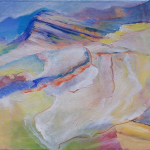 (CreativeWork) Translucent Landscape by Roland Weight. oil-painting. Shop online at Bluethumb.