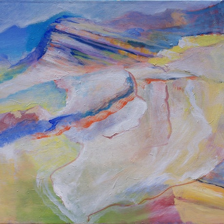 (CreativeWork) Translucent Landscape by Roland Weight. Oil Paint. Shop online at Bluethumb.