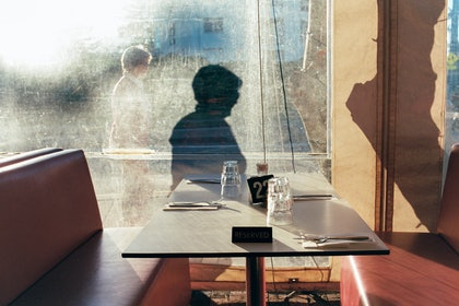 Winter Shadows at Cafe Alfons