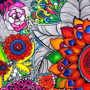 (CreativeWork) Flower by Nichole Gigliotti. drawing. Shop online at Bluethumb.