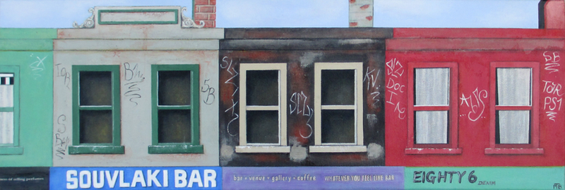 (CreativeWork) Brunswick Street Strip 2 by Pauline Bailey. mixed-media. Shop online at Bluethumb.
