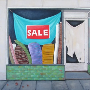 (CreativeWork) Job Warehouse - Bourke Street by Pauline Bailey. mixed-media. Shop online at Bluethumb.