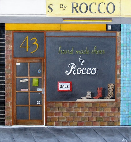 (CreativeWork) Rocco's Malvern by Pauline Bailey. mixed-media. Shop online at Bluethumb.