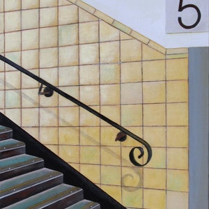 (CreativeWork) Richmond Station Platform 5 by Pauline Bailey. arcylic-painting. Shop online at Bluethumb.