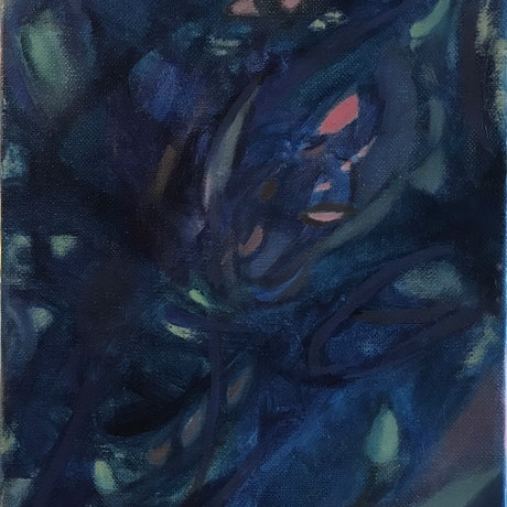 (CreativeWork) Nightbloom 1 by Vanessa Whittington. Oil Paint. Shop online at Bluethumb.