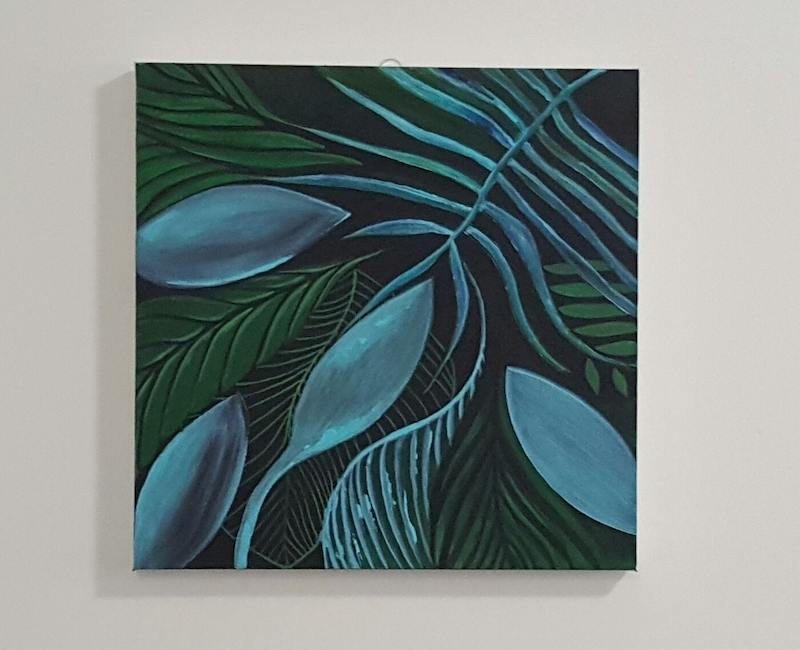 (CreativeWork) Frondesque by Elle Lyon. arcylic-painting. Shop online at Bluethumb.
