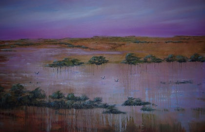 (CreativeWork) Big wet by Suzy French. oil-painting. Shop online at Bluethumb.