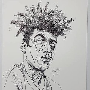 (CreativeWork) Remi by Sam Patterson-Smith. drawing. Shop online at Bluethumb.