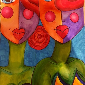 (CreativeWork) Sisters by Nichole Gigliotti. drawing. Shop online at Bluethumb.