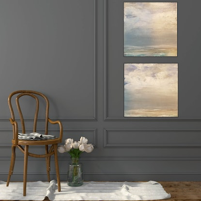 (CreativeWork) Coastal (set of 2) by Andrea Edwards. Acrylic Paint. Shop online at Bluethumb.