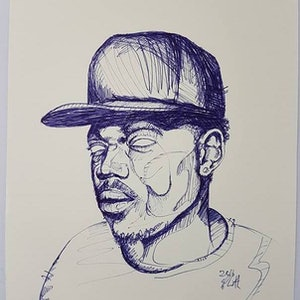 (CreativeWork) Chance The Rapper by Sam Patterson-Smith. drawing. Shop online at Bluethumb.