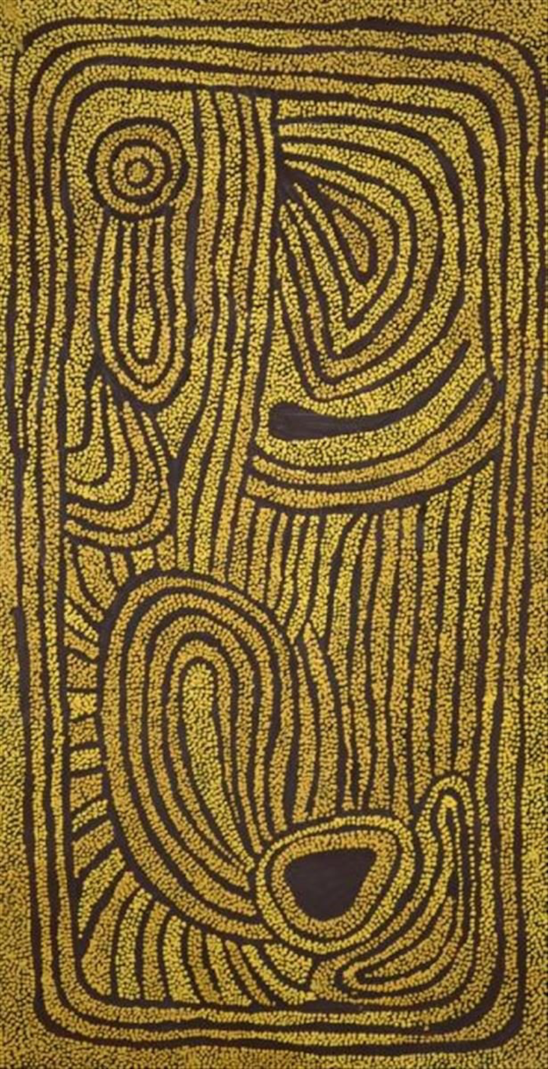 (CreativeWork) My grandmother's country by Samantha Daniels Napaljarri. arcylic-painting. Shop online at Bluethumb.