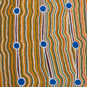 (CreativeWork) Rockholes, 18-4 by Lawrence Mitchell. arcylic-painting. Shop online at Bluethumb.