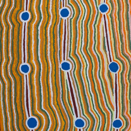 (CreativeWork) Rockholes, 18-4 by Lawrence Mitchell. Acrylic Paint. Shop online at Bluethumb.