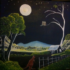 (CreativeWork) No-one's Home by Janine H. arcylic-painting. Shop online at Bluethumb.