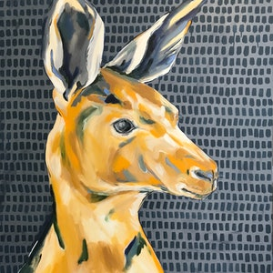 (CreativeWork) Mr Roo by Emma Nancarrow. arcylic-painting. Shop online at Bluethumb.