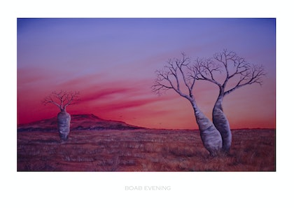 (CreativeWork) Boab evening Ed. 6 of 148 by Suzy French. print. Shop online at Bluethumb.