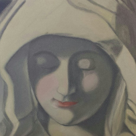 (CreativeWork) Mary by Helen Saigal. Drawings. Shop online at Bluethumb.