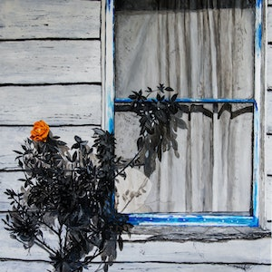 (CreativeWork) Boo Radley's Window by Rodney Black. arcylic-painting. Shop online at Bluethumb.