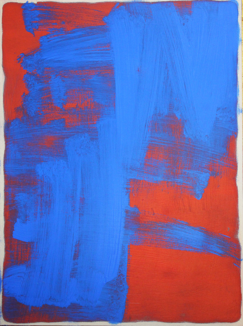 (CreativeWork) Red Blue Five by Jonathon Telcher. arcylic-painting. Shop online at Bluethumb.