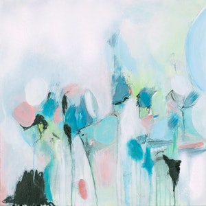 (CreativeWork) Travel Light 2 by Brenda Meynell. arcylic-painting. Shop online at Bluethumb.
