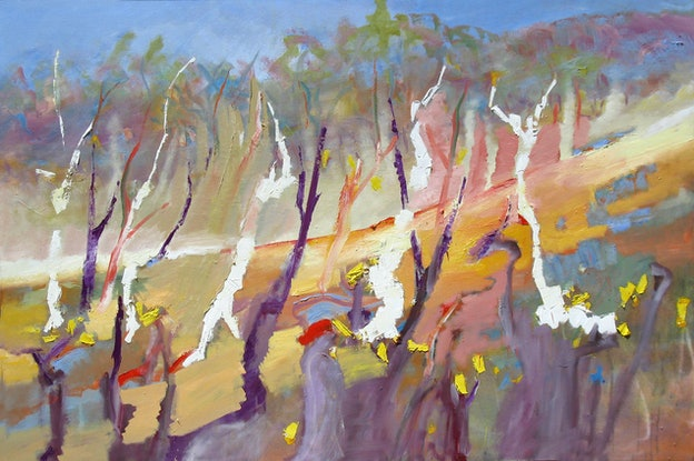 (CreativeWork) Celebration by Roland Weight. Oil. Shop online at Bluethumb.