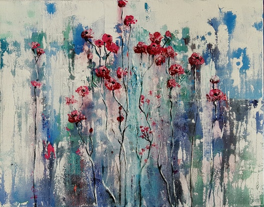 (CreativeWork) Congenial by Helen Miles. Acrylic Paint. Shop online at Bluethumb.
