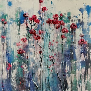(CreativeWork) Congenial by Helen Miles. arcylic-painting. Shop online at Bluethumb.