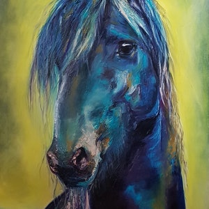 (CreativeWork) Black Beauty by Rachel South. oil-painting. Shop online at Bluethumb.