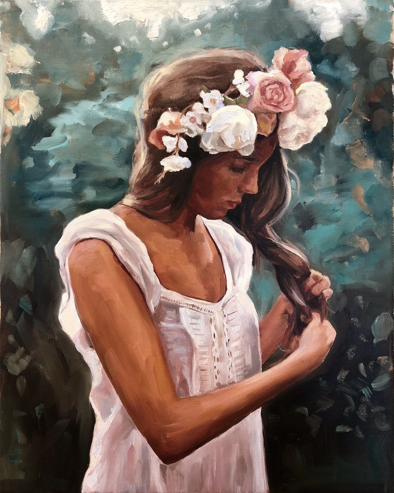 Flower Crown By Holly Harper Paintings For Sale Bluethumb Online
