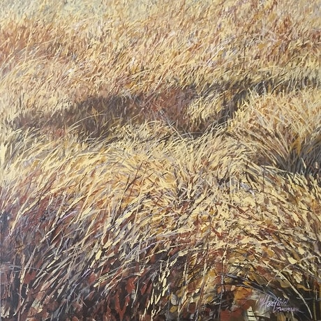 (CreativeWork) SHADOWS IN THE GRASS by Margaret HADFIELD. Acrylic Paint. Shop online at Bluethumb.