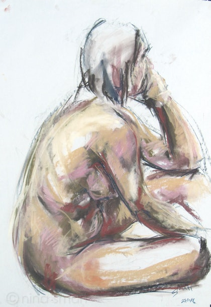 Life Drawing  - Seated Female Nude