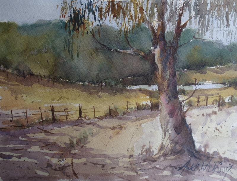 (CreativeWork) OLD GUMTREE by Anki Wickison. watercolour. Shop online at Bluethumb.