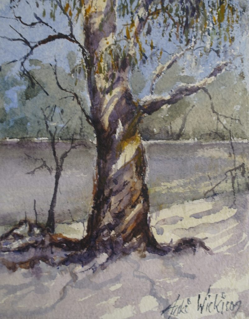 (CreativeWork) GUM TREE by Anki Wickison. watercolour. Shop online at Bluethumb.