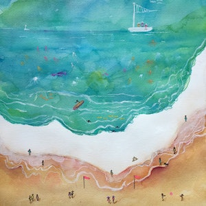 (CreativeWork) Aussie Summers by Sonia Dickson. mixed-media. Shop online at Bluethumb.