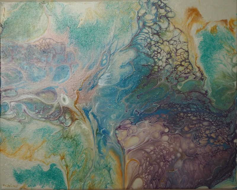 coral reef stretch canvas ready to hang by jacquelyn nicholson