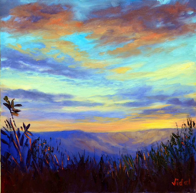 (CreativeWork) Sunset sky - Canvas print ready to hang Ed. 1 of 25 by Christopher Vidal. print. Shop online at Bluethumb.