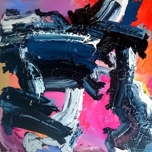 (CreativeWork) Darkdays by Jude Hotchkiss. oil-painting. Shop online at Bluethumb.