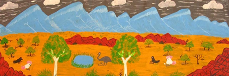 (CreativeWork) West MacDonnell Ranges Catalog no. ngur09rnn9253 by Rosabelle Namatjira. arcylic-painting. Shop online at Bluethumb.