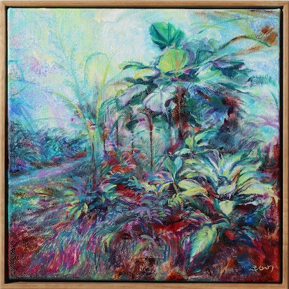 (CreativeWork) Fern Gully no. 2 by In Sun Park. oil-painting. Shop online at Bluethumb.