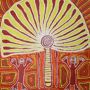 (CreativeWork) The Windmill Catalog no. 294-13 by Samantha Daniels Napaljarri. arcylic-painting. Shop online at Bluethumb.
