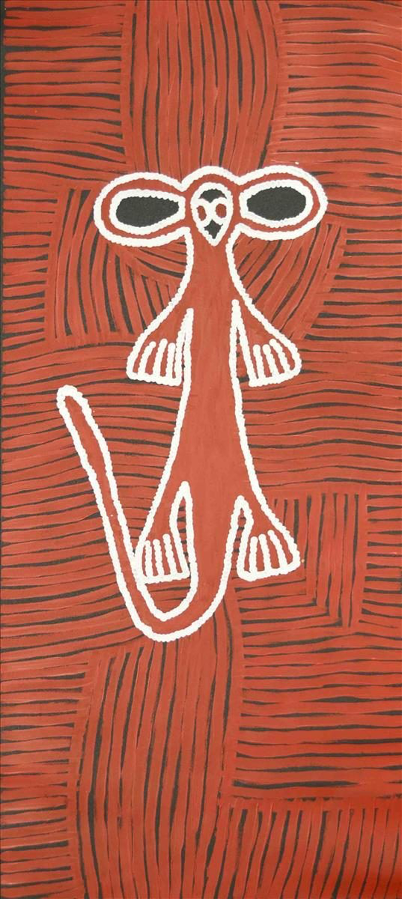(CreativeWork) Kangaroo man Catalog no. 22-14 by Samantha Daniels Napaljarri. arcylic-painting. Shop online at Bluethumb.