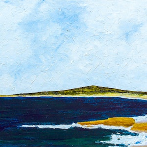 (CreativeWork) The Bay ( Trial Bay , South West Rocks, NSW ) by scott jackson. oil-painting. Shop online at Bluethumb.