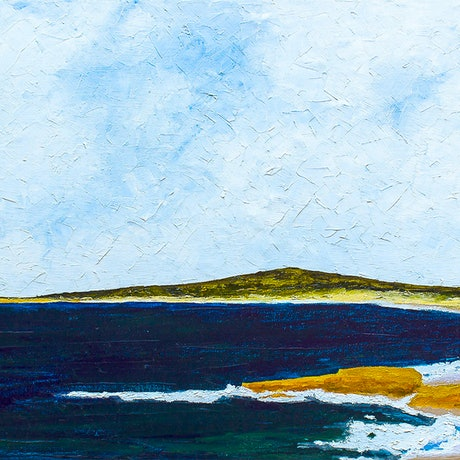 (CreativeWork) The Bay ( Trial Bay , South West Rocks, NSW ) by Scott Jackson. Oil Paint. Shop online at Bluethumb.