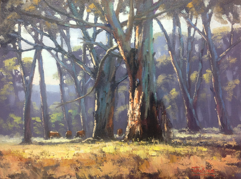(CreativeWork) High Country Gums by John Rice. oil-painting. Shop online at Bluethumb.