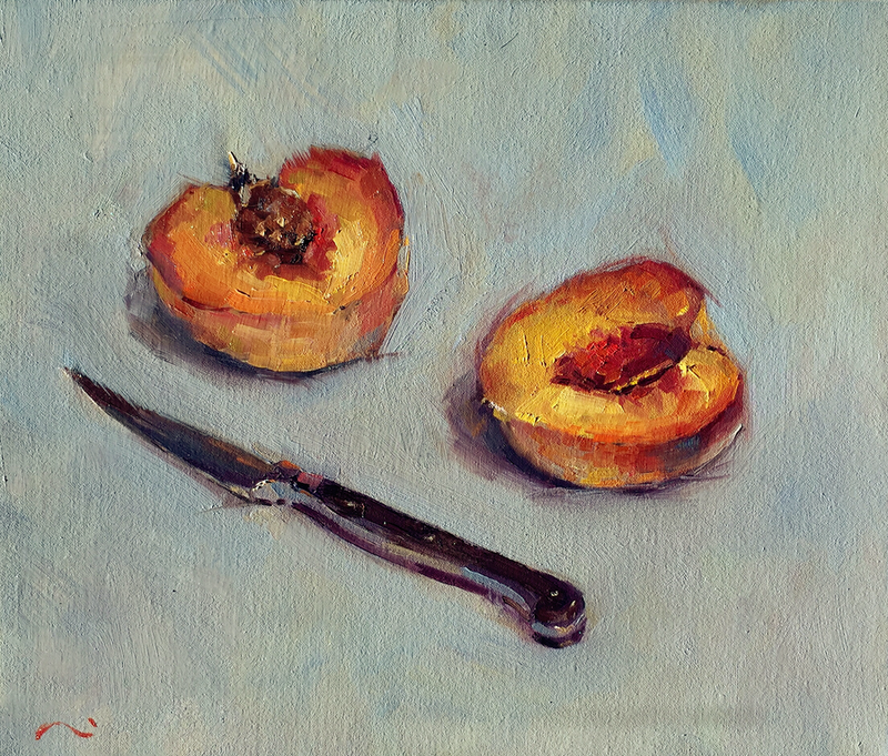 (CreativeWork) Still Life 29# by LI ZHOU. oil-painting. Shop online at Bluethumb.